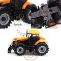 Niños niños 1:32 escala modelo de camión de coches de juguete Diecast Farmer Tractor vehículo LED juguetes musicales para los niños 163 * 88 * 78 mm