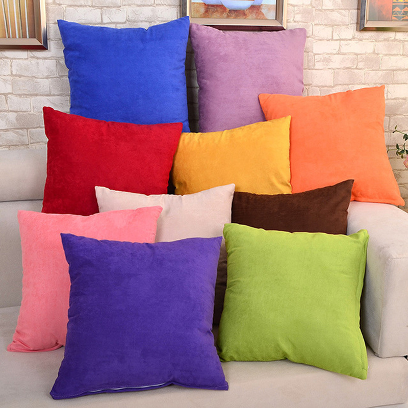 Velvet Decorative Pillows Soft Sofa Waist Throw Cushion Cover Solid 45 X 45cm Home Decor Cushion Covers Home Decor Decoration