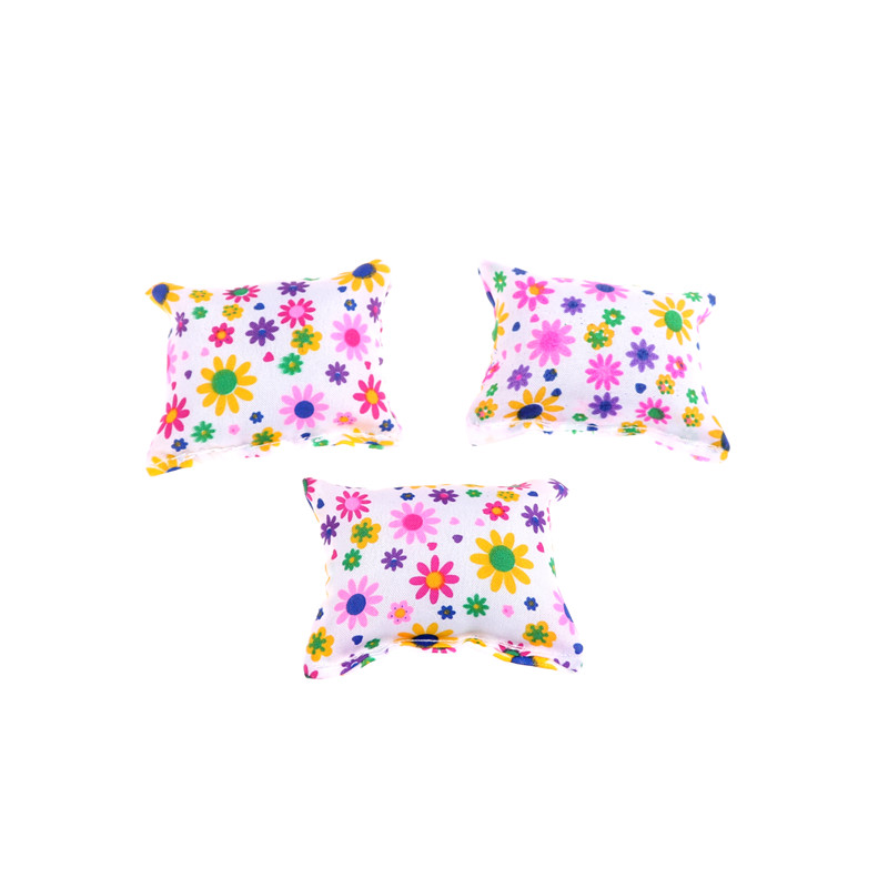 Baby Toy Plush Stuffed Furniture 3x Cushions For  Doll Couch LF