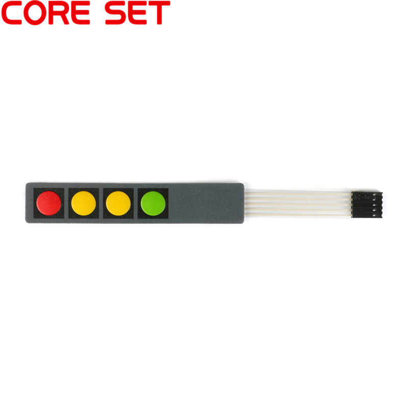 1 2 3 4 12 16 20 chave botão interruptor de membrana 1x4 3x4x4 4x5 teclas matriz teclado painel de controle do teclado diy kit para arduino