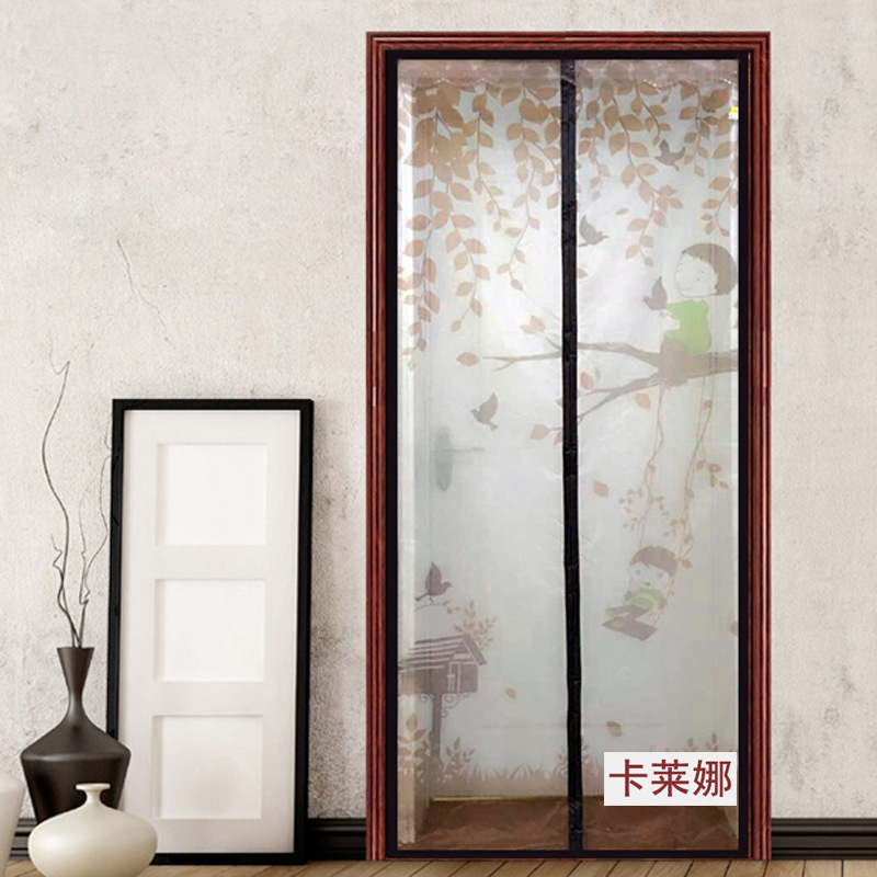 Net Window Magnetic Soft Screen Door Swing Square Manual Printing. The Summer Mosquito Gauze Curtain Moustiquaire Porte