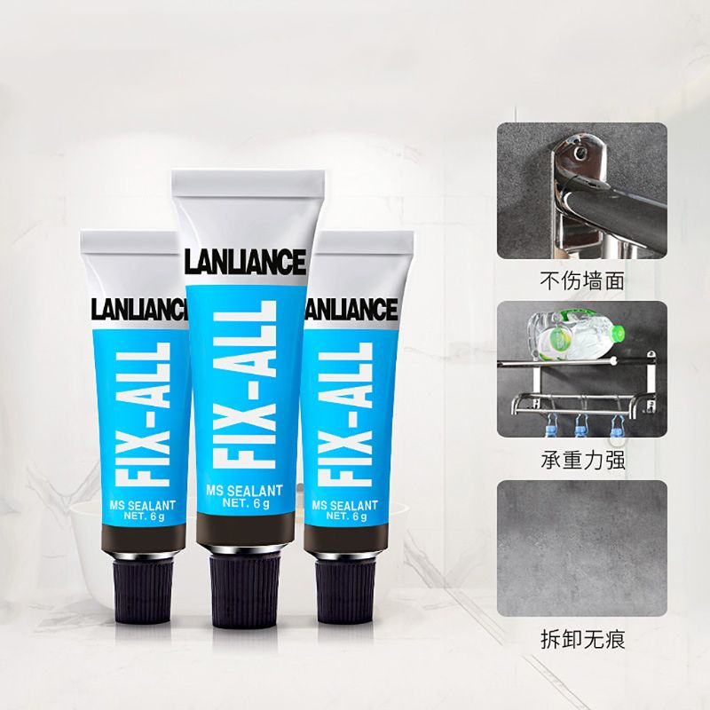 High Strength Sticky Glue Silane Polymer Metal Ceramic Tile Wood Glass  Adhesive Sealant Fix Stationery Jewelry Repair