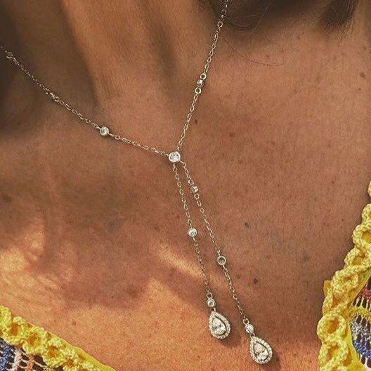Y lariat Long Pendant Necklaces For Wome
