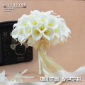 Beautiful 40pcs Artificial Flower White Calla Lily buque de noiva Wedding Bridal bouquet Wedding Bouquet and BoutonniereA0021