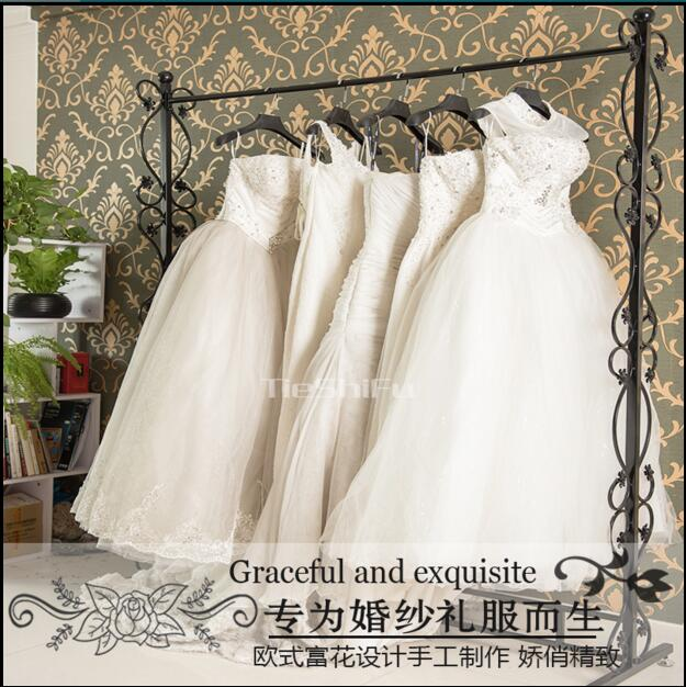 Wedding Gown Display: New Iron Art Wedding Dress Rack, High End Clothing Display
