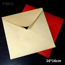 50pcs 16 16cm 6 2 120gsm Pearl Paper Envelope