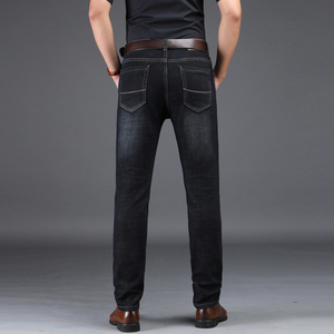 Image 3 - NIGRITY 2019 New Hot Sale Mens Business Classic Leisure Jeans Basic styles Straight Pant Male Trousers Quality Plus Size 29 42