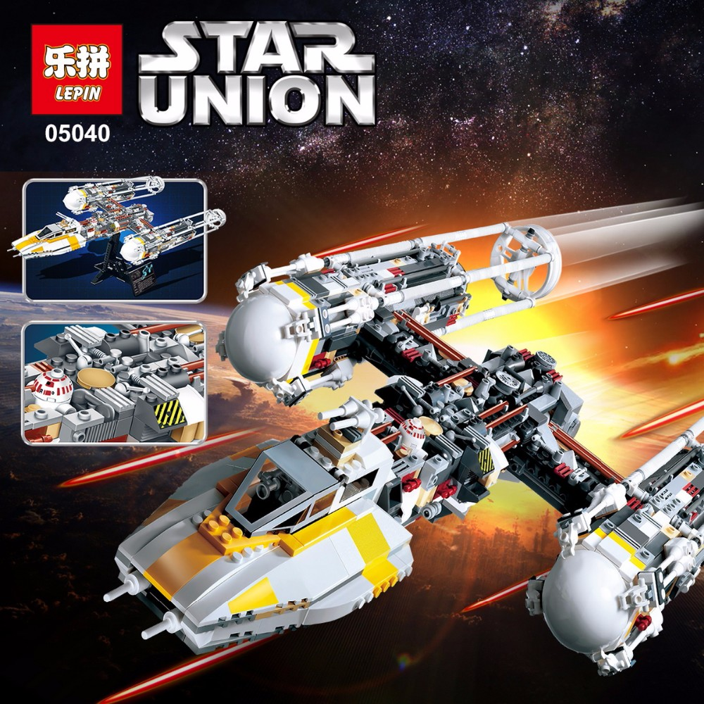 Lepin 05040 Star Series legoingly Wing Attack plan Model fighter Building Blocks Assembled bricks Toys Compatible with 10134 new 1685pcs lepin 05036 1685pcs star series tie building fighter educational blocks bricks toys compatible with 75095 wars