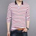 2016 Новая мода лето стиль Polo рубашки высокого качества бренда мужчин повседневная с коротким рукавом полосатый хлопок polo shirt camisa поло