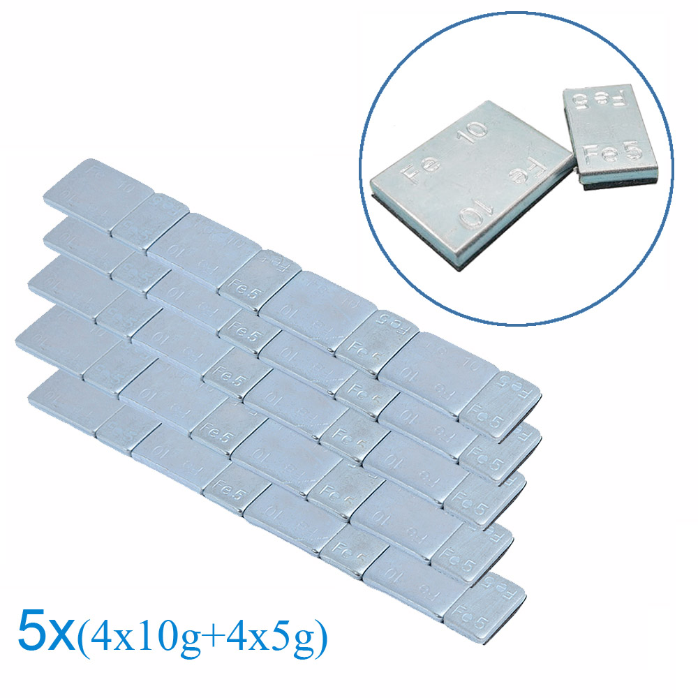 40 pieces 5 Sets Iron Wheel Tire Balance Weights Adhesive for Car Motorcycle