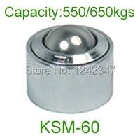 Ahcell 60mm Chrome Bearing Steel Ball KSM 60 650kg Floor Caster Heavy Duty Conveyor Roller Wheel