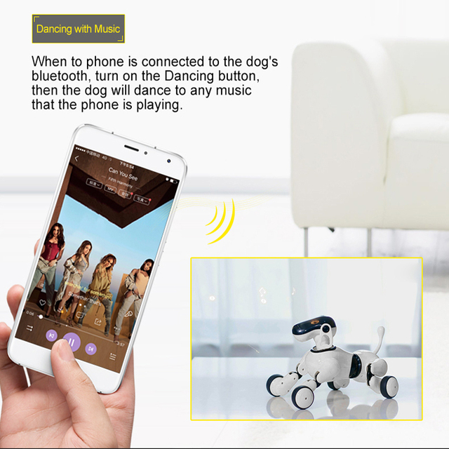 Robot Dog Voice &App Controlled Robot AI Dog Interactive Toys