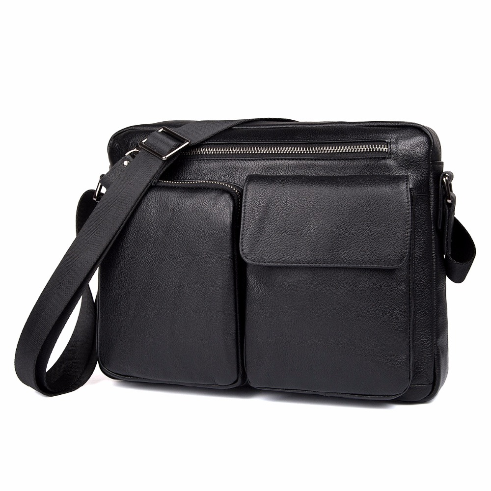 50b3e8fe11 J.M.D Genuine Leather Men s Shoulder Bag Simple Design Classic Crossbody Bag  Vintage Fashion Flap Bag 1044A