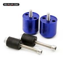 цена на Bar End Caps For SUZUKI GSXR 600 GSX-R 750 GSXR 1000 Motorcycle CNC Aluminum Handlebar Grips Slider Plugs Accessories Cover