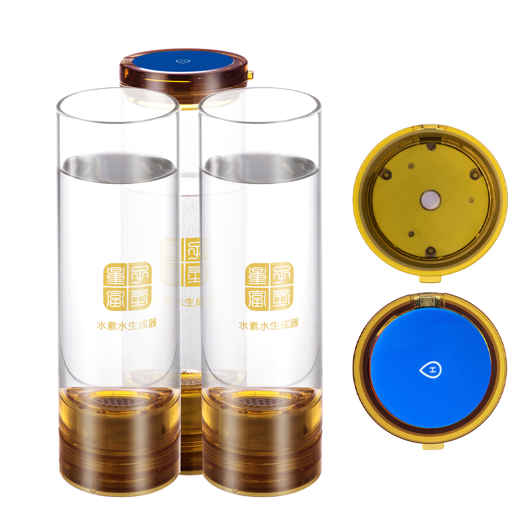 Hydrogen Rich water generator bottle 600ML Office Home water ionizer H2 Drinking water USB Wireless transmission Anti-Aging