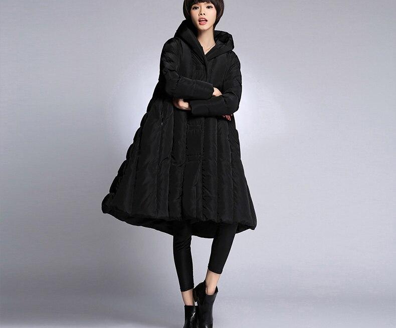 2018 femmes hiver épais manteaux en duvet noir marine bleu armée vert rouge plus la taille hiver vestes