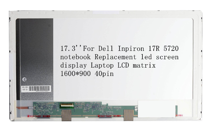 17,3 ''for Dell Inpiron 17r 5720 Notebook Ersatz Led-bildschirm Display Laptop Lcd-matrix 1600*900 40pin Weniger Teuer