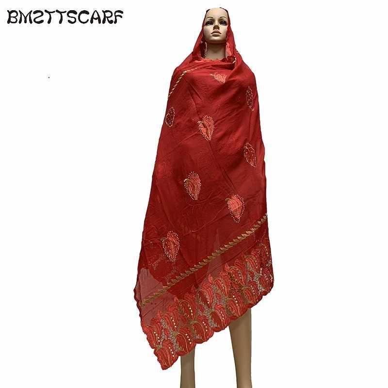 Baru Wanita Afrika Syal Muslim Wanita 100% Cotton Besar Syal untuk Selendang Membungkus Pashmina BM704