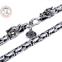 Men Jewelry 100 Pure Silver Necklace S925 Sterling Silver Men Necklace Dragon Head Chain Thai Silver