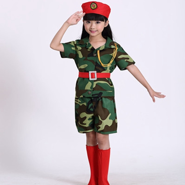 military Uniform Camouflage Costumes  Kindergarten Children Uniform Costumes Dance Clothes Camouflage for Child