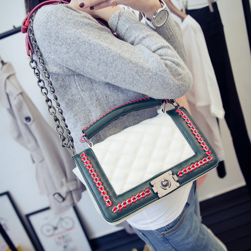 black women shoulder bags female party crossbody chain bag plaid handbag quilted sac a main femme women leather handbags 786 fashion genuine leather handbag alligator party bag luxury women leather handbag female shoulder bags sac a main femme de marque