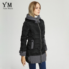 YuooMuoo New Warm Thick Women Winter Jacket Korean Fashion Cotton Padded Parka Plus Size Hoody Patchwork Women Coat Wholesale