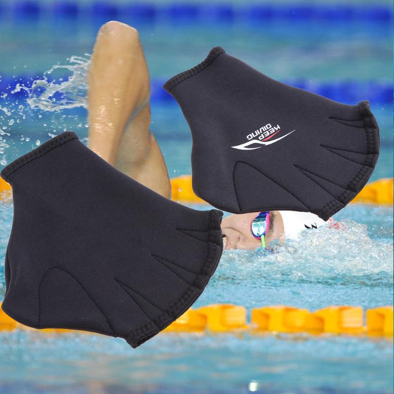 1 par Unisex natación guantes palmeados adultos Paddle Rana dedo aletas de  buceo Handwears equipo de natación para hombre - a.drshahidarafique.me d8589676f6e