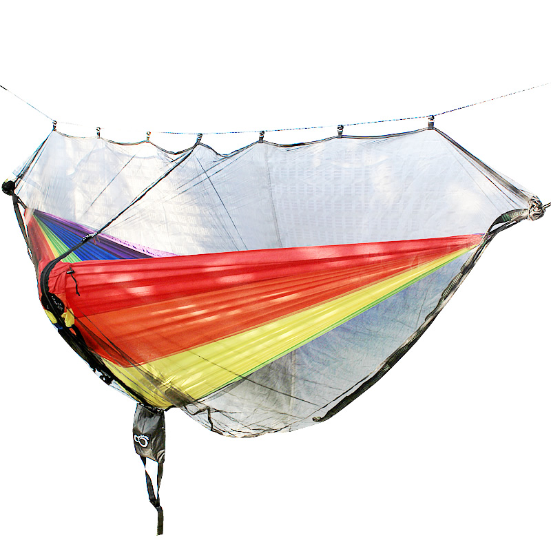 Hammock Bug Mosquito Net XL 11x4.6FT No-See-Ums Polyester Fabric For 360 Degree Protection Dual Sided Diagonal Zipper For Easy