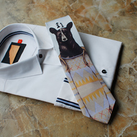 Fashion Tie Mountain Bear Series Dress Up Casual Groom Gift Wedding Party Evening Tie