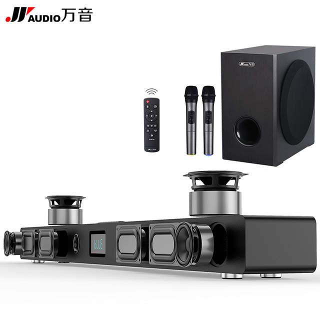 e3f3088b2e9 placeholder JY de Audio A9 inalámbrico barra de sonido Bluetooth 3D estéreo  Woofer de cine en casa