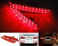 Red Lens LED Bumper Reflector Tail Brake Stop Light 2012 13 14 15 For BMW 3