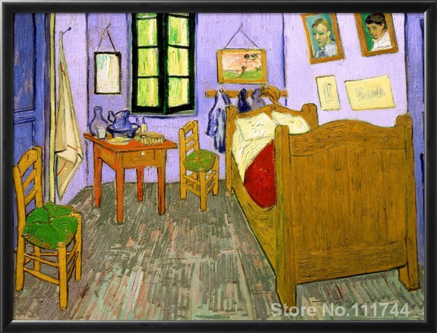Moderne kunst schilderij op canvas De Slaapkamer arles ...