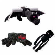 3pcs per lot Minecraft Plush Toys Enderman Ender Dragon Spider Plush Doll Brinquedos For Kids Gift