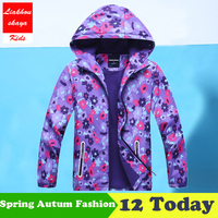 Liakhouskaya 2018 Children S Jacket For Girls Spring Casual Windbreaker Kids Outerwear Hoodies Coats Double Deck