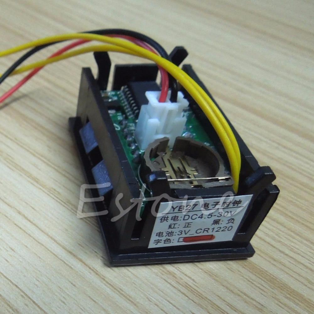 Ζεστό πώληση LED οθόνη ψηφιακό ρολόι 12V - Ανταλλακτικά αυτοκινήτων - Φωτογραφία 5