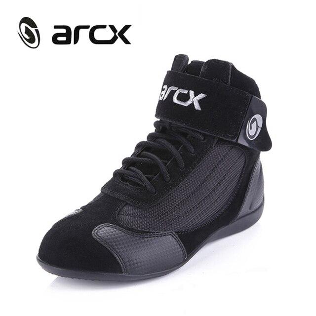 3c162d8a79a2c2 ARCX Moto Equitazione Traspirante Stivali di Protezione Moto Moto  Motociclista Touring bots Scarpe per Gli Uomini