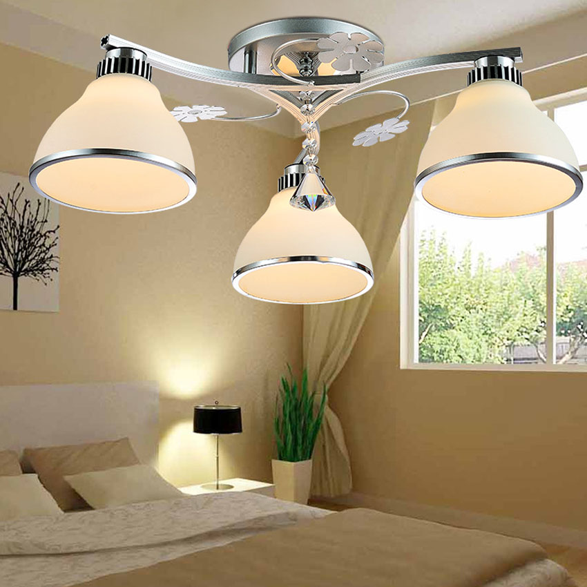 Modern minimalist 3 heads LED ceiling lamps suitable for living room bedroom Restaurant vemma acrylic minimalist modern led ceiling lamps kitchen bathroom bedroom balcony corridor lamp lighting study