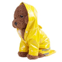 Светоотражающие полосы собака одежда Водонепроницаемый плащ для маленьких Средний щенок Плащи для собак