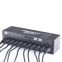 KOKKO Pedal Power Supply 10 Outputs = 6Ways 9V100ma 2Ways 9V/500ma 12v/500ma 18V/500ma Short Circuit / Overcurrent Protection