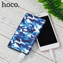 HOCO 10000MAH Large Capacity External Power Bank Fashionable Camouflage Design Battery Charger Supply powerbank USB charger