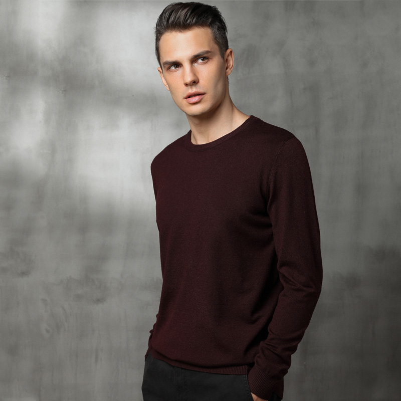 BARESKIY2019 Spring And Autumn New Sweater Pullover Men's Business Cashmere Sweater Black Men's Casual O-neck Sweater Brand