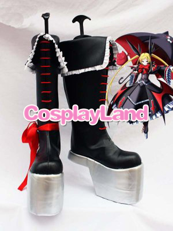 BlazBlue Rachel Alucard Black Cosplay Shoes Boots Anime Party Cosplay Boots Custom Made Shoes цена