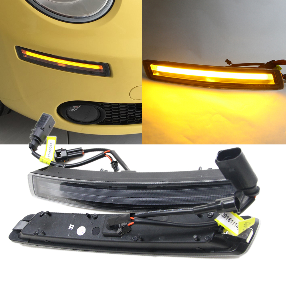 For New Beetle 2006 2007 2008 2009 2010 FACELIFTED 2D LED DRL Daytime Running Light for VW Volkswagen 12V Car Lighting source car fog lights for volkswagen vw passat b6 2005 2006 2007 2008 2009 2010 2014 car modification 12v led drl daytime running light