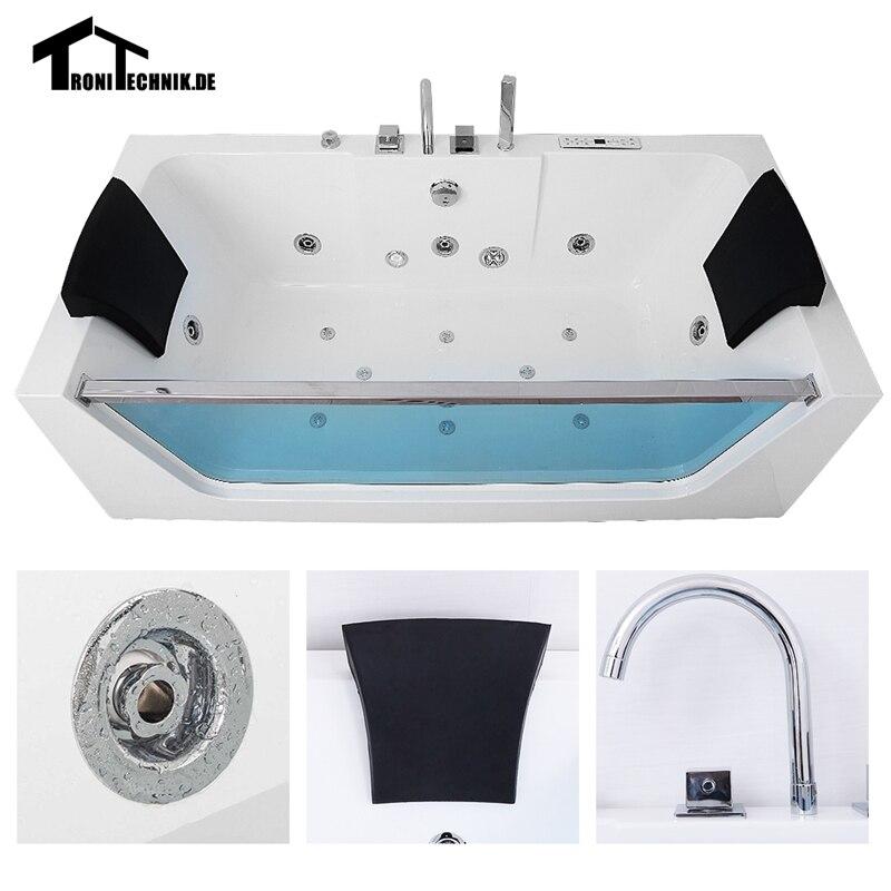1700mm Air Massage Whirlpool Bath tub Shower spa freestanding ...
