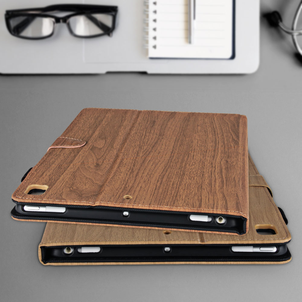 For Generation Cover 10.2 Case Smart Flip iPad for 10.2 7th iPad Pattern 2019 Wood PC
