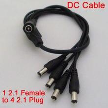 1 шт. разделитель мощности постоянного тока кабель DC 5,5×2,1 женский от 1 до 4 шнур со штырем для камеры видеонаблюдения
