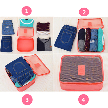 Do Not Miss high quality 6pcs/set luggage Travel organizer bag large for Men women Multifunction cosmetic organizer make up bags