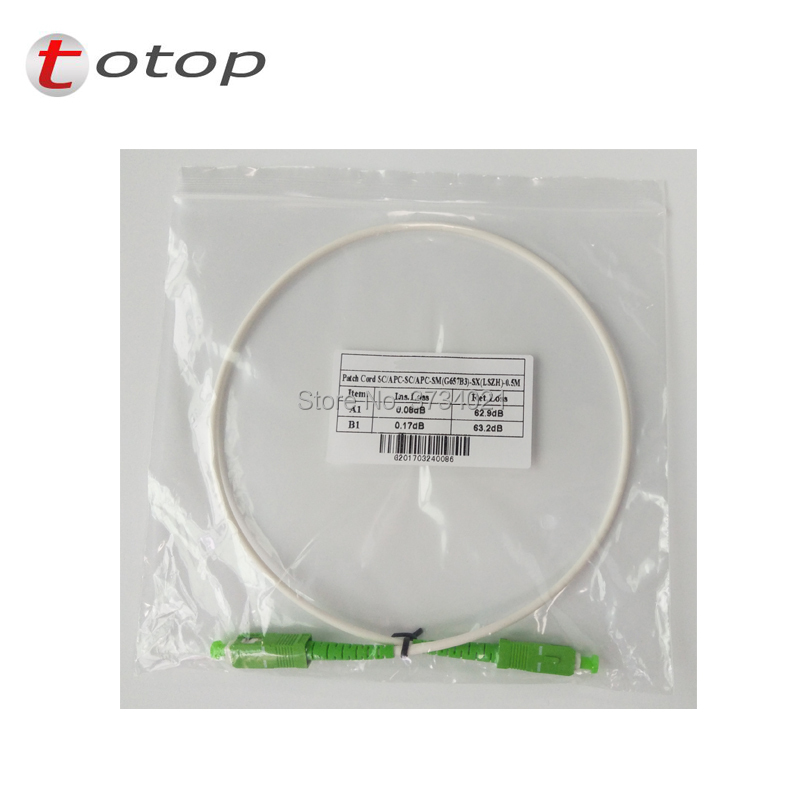 Fiber Cable Patchcord SCAPC SM SX Item Length 1M G657B3