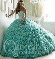 Hot 2017 Vestidos Quinceanera Pedrinhas Decote Plus Size Sweet 16 Vestidos de Princesa Vestidos De Quinceaneras