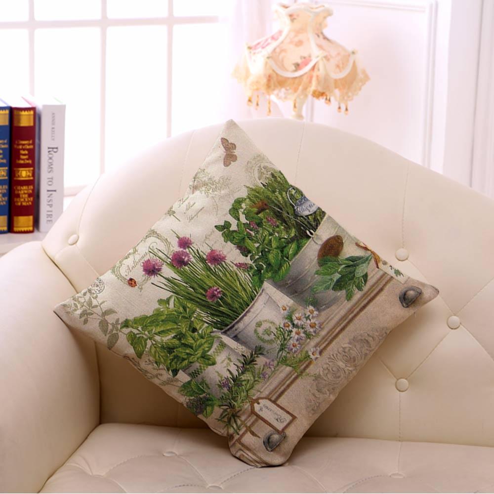 Miracille Coton Nappe Carree 18 Fleur Vase Vert Plantes Accueil
